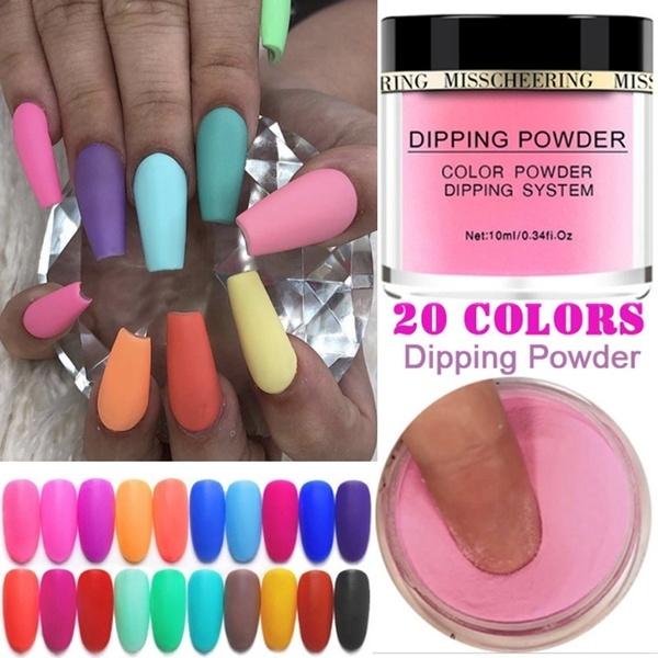 Matte Color Manicure Powder Nail Dipping Powder Nail Art Decorations 01