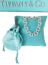 *Tiffany & Co Silver Solo Donuts Link Chain Toggle Bracelet Clasping end... - $245.00