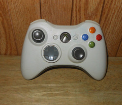 Microsoft Xbox 360 Controller White Wireless, No Battery Pack - $14.49