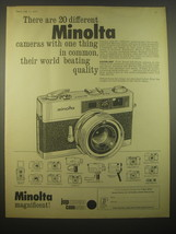 1966 Minolta Electro Shot Camera Ad - There are 20 different Minolta cam... - $14.99