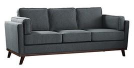 """Homelegance 84"""", Gray Bedos Fabric Upholstered Sofa - $1,218.19"""