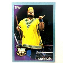 WWE Akeem 2010 Topps Card #81 Blue Serial Numbered Parallel  - $2.92