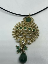 Vintage Genuine Mixed Gemstone Golden 925 Sterling Silver Choker Necklace - $130.68
