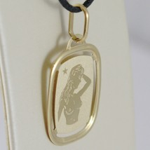 SOLID 18K YELLOW GOLD VIRGO ZODIAC SIGN MEDAL PENDANT, ZODIACAL, MADE IN ITALY image 2