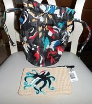 Vera Bradley Lighten up Mini ditty bag and seashore zip pouch in Splash ... - $37.00