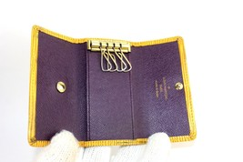 Auth Louis Vuitton tassil yellow epi leather  4 Key Case key holder Spain CA0062 - $98.01