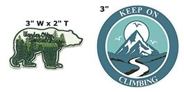 Wander Often Wander Always and Keep on Climbing National Park Series 2-Pack Embr - $7.89