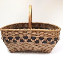 Hand woven handmade basket signed by artist Pam Talsky 2008 LARGE weavin... - $127.71