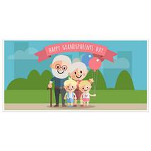With Grandchildren Happy Grandparents Day Banner - $22.28+