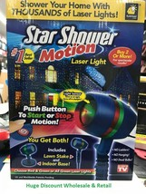 Star Shower Motion Laser Lights Star Projector Indoor/Outdoor Use Home &... - $44.99