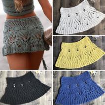2018 handmade beach cover up skirts hook summer holiday skirt boho cotto... - $43.99