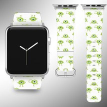 Monsters Inc Disney Apple Watch Band 38 40 42 44 mm Fabric Leather Strap 01 - $24.97