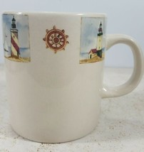Everyday Gibson Mug Lighthouse Nautical By the Sea EUC Excellent Used Co... - $27.71