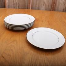 6 Noritake Ranier 6909 Luncheon Plates White Floral Pattern Japan - $51.41