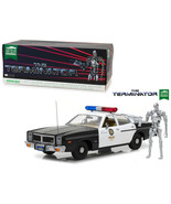 1977 Dodge Monaco Metropolitan Police with T-800 Endoskeleton Figure The... - $116.99
