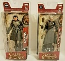 Game of Thrones Jon Snow & Daenerys Targaryen Action Figure HBO McFarlan... - $33.95