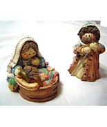 Cute as a Button Mary Jesus Joseph Nativity Figurines 651524 Mary Rhymer... - $19.99