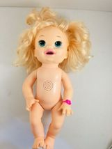 Baby Alive 2014 Bilingual Blonde Blue Eyes Interactive Non Working Pees Poops image 8