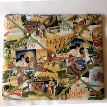 Hawaiian Theme 21x18 Fabric French Style Memo Message Bulletin Board Hul... - $48.51