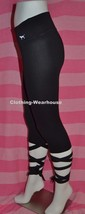 Victoria's Secret PINK Super Soft Ankle Wrap Tie Up Leggings Pants Black XS NEW - $64.99