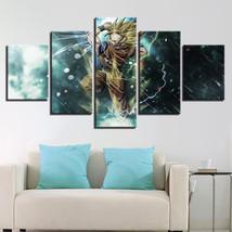 Large Framed Dragon Ball Z Super Saiya Canvas Print Home Decor Wall Art ... - $118.79