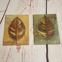 Decorator Plaques Pictures Leaves Tranquility Serenity Interior Decorato... - $12.35