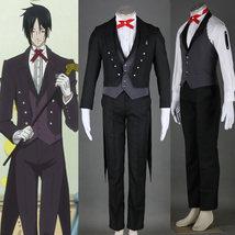 Black Butler II 2 Kuroshitsuji Sebastian Suit Set Cosplay Costume - $125.99+