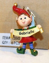 Christmas Ornaments WHOLESALE- Russ BERRIE-#13815- 'GABRIELLA'- (6) - New -W742 - $5.83
