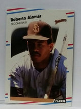 1988 Fleer Update U-122 Roberto Alomar Rookie Graded MINT image 2