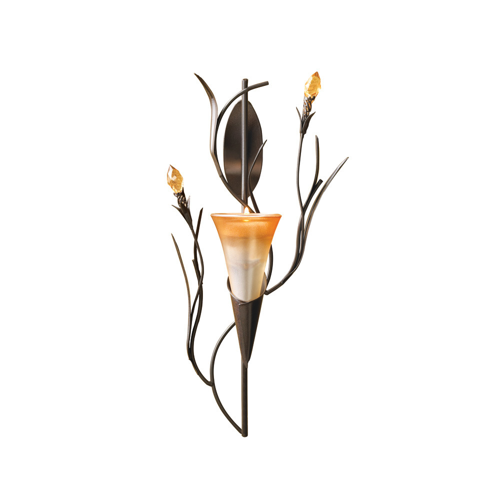 DAWN LILY WALL SCONCE10/30Tealight holder single lily blossom in sunrise orange