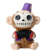 Furrybones Sitting Fez Munky Skull Face in Purple Jacket and Hat - $8.99