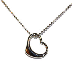Girl's Women's Simple Love Silver Tone Open Heart Adjustable Dot Chain Necklace - $12.97