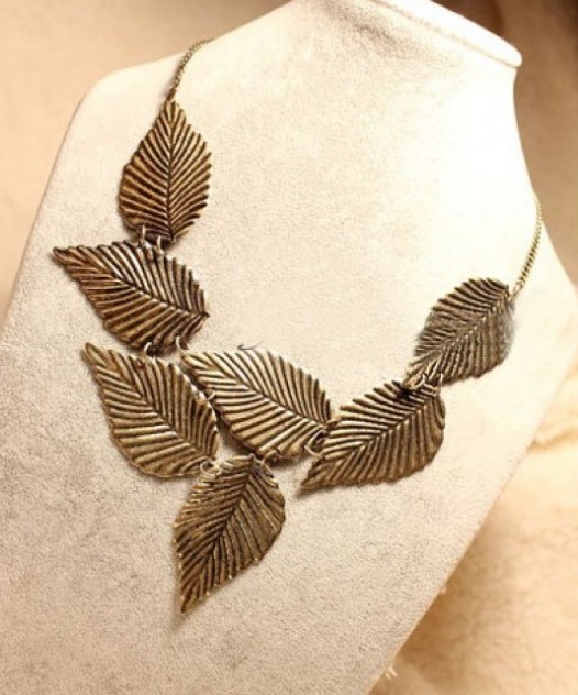 Primary image for New Punk Runaway Look Leaf Long Necklace