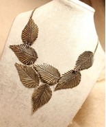 New Punk Runaway Look Leaf Long Necklace - $7.99