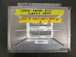 CHEVY PONTIAC ECM #9380717 DBUH *See item description* - $39.59