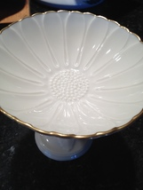 Lenox China hand decorated in 24k gold pedestal goblet serving dish image 3