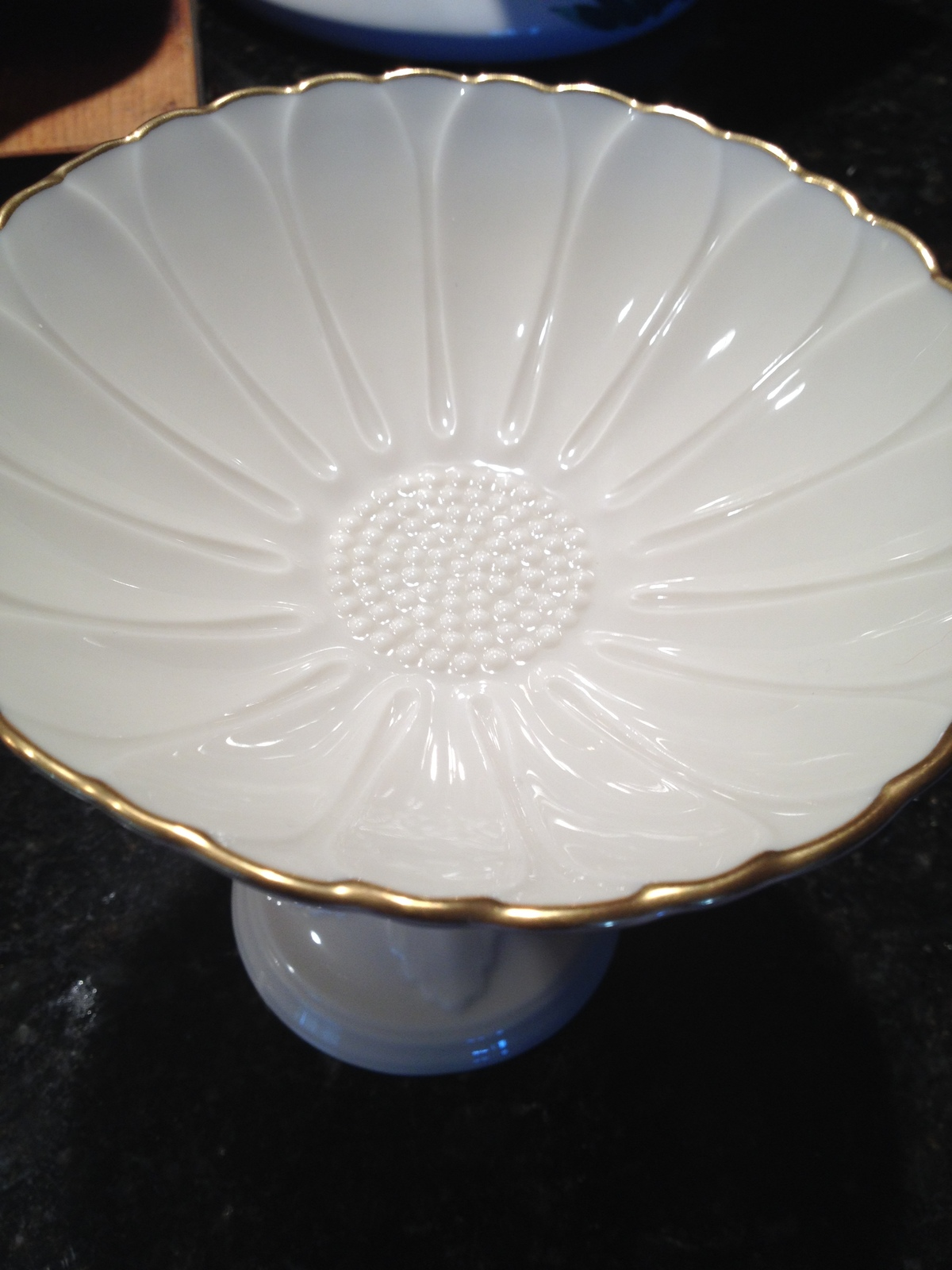 Lenox China hand decorated in 24k gold pedestal goblet serving dish image 6