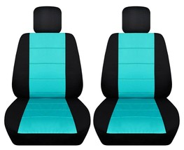 Front set car seat covers fits Chevy Spark  2013-2020   black and mint blue - $67.89+