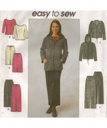 Misses Career Office Stretch Knit Jacket Hoodie Top Pant Skirt Sew Pattern 6-12 - $9.99