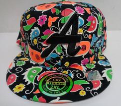 "Atlanta Baseball Cap 2XL Glow in the Dark Multi Colored NWT City Hunter ""A"" - $11.99"