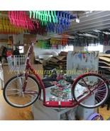 "20"" ADULT KICK SCOOTER - BLACK Amish Foot Bike w/ Basket Brakes & Racing... - $312.61"