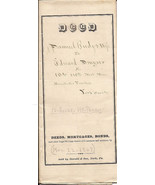 1857 York PA Historic Document Samuel Rudy Smyser DEED with IRS CONVEYAN... - $101.09