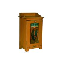 Custom Amish Wood Kitchen Potato Vegetable Trash Bin Cabinet Folk Art Ro... - $279.97