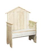 GARDEN DISPLAY BENCH  Repurposed Antique Farmhouse Door Furniture USA Ha... - $578.77
