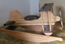 WOODEN ROCKING AIRPLANE Handmade Toddler Homeschool Toy Furniture SOLID ... - $343.95