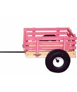 Amish TRICYCLE TRAILER Cart Wood Steel Made in USA Quality for Toys Work... - $128.97