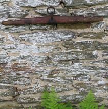 YOKE Amish hand carved Single Tree Wooden Iron Yoke w red paint  Nice Fa... - $130.79