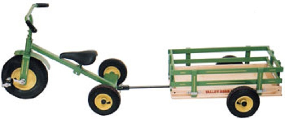 Amish Wagon Parts : Amish tricycle trailer cart wood steel made in usa quality