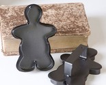Set of 12 Gingerbread Man COOKIE CUTTERS Country Decor Ornaments in Smokey Black