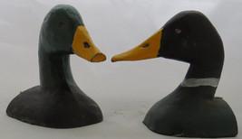 Vintage Cast Iron Mallard Duck Bookend Decoy Door Stop Chesapeake Bay Jobes - $91.17